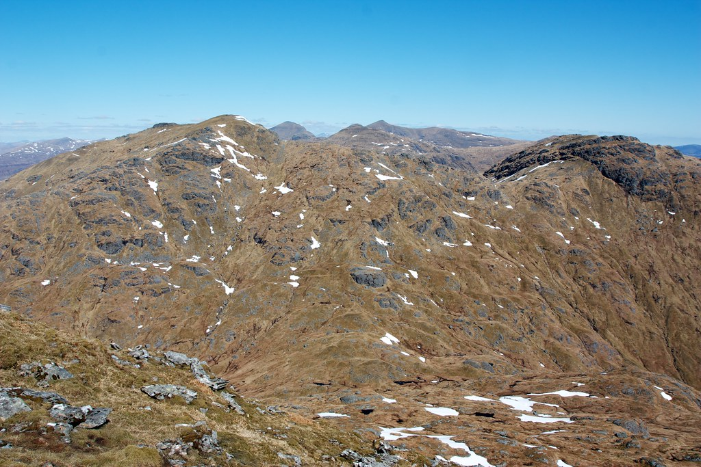 The Crianlarich Hills from Beinn Chabhair