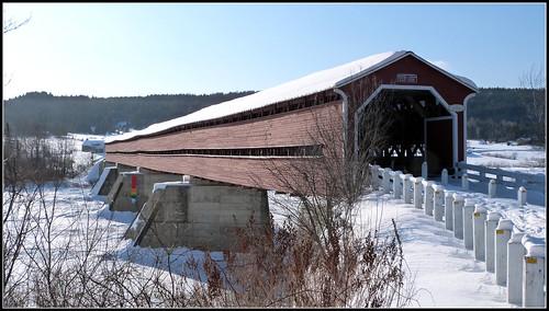 Longest covered bridge in Canada