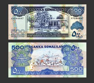 Somaliland 500 Shillings - 1990s