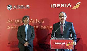 Iberia presentacion A350 en MAD febrero 2015 (Iberia)