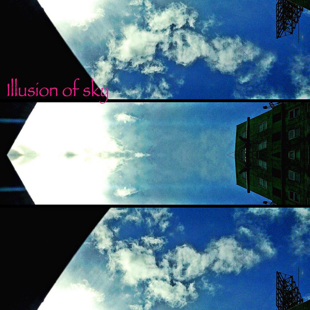 空と雲と光と幻想(フレーム加工)