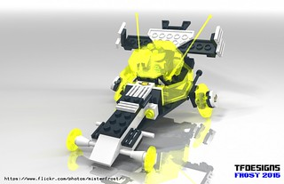 Blacktron Avenger II Race Rover (LDD Building Instructions)  by  MR FROST