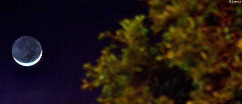 Esta noche asi luce la #Luna sobre Tierra cachanilla #moon Foto:El Lemus