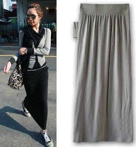 Womens Thin Long Straight Skirt Casual Side Slit Bust Skirts Beach ...