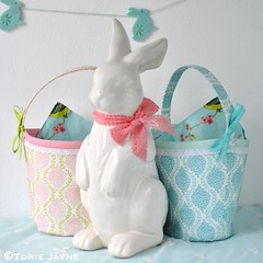 Fabric baskets using Elephant in my Handbag