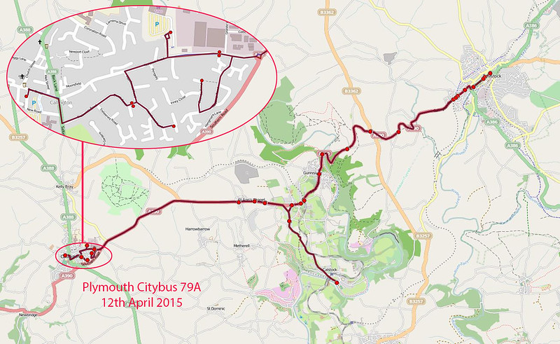 Plymouth Citybus Route-79A 2015-04-12