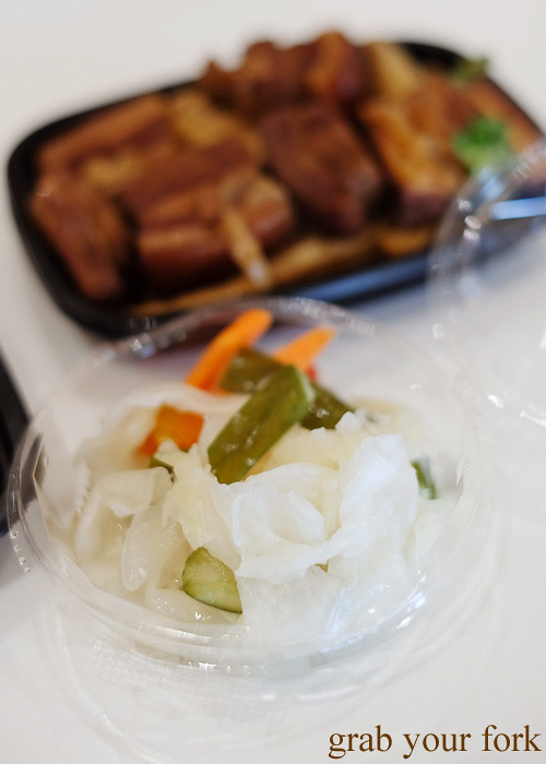 Taiwanese pickled vegetables at Taste of Cho, Market City Chinatown