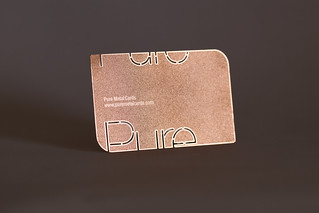 Pure Metal Cards - copper business card