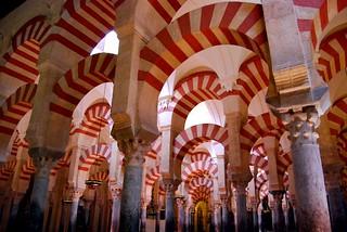 Arches in La Mezquita de Córdoba, Spain