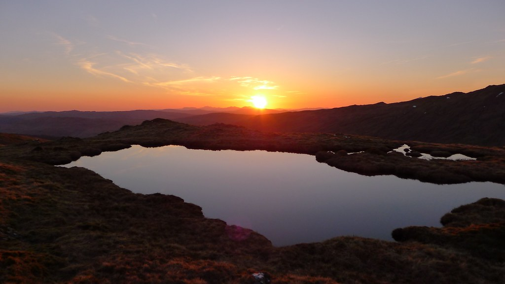 Sunset pool on Beinn Chas