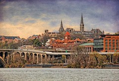 Georgetown, Washington D.C., view from the Potomac River