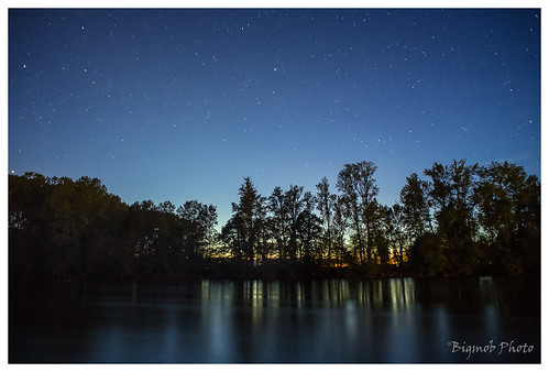 Starry Night by the Dordogne River, France