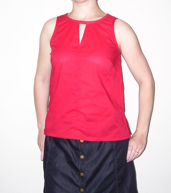V Slit blouse 1