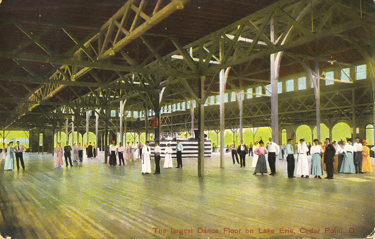 dance pavilion on Cedar Point, Ohio, built in 1882