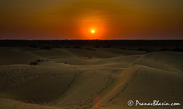 It's About To Get Dark In The Desert, Jaisalmer
