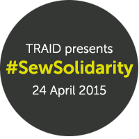 TRAID #SewSolidarity Badge