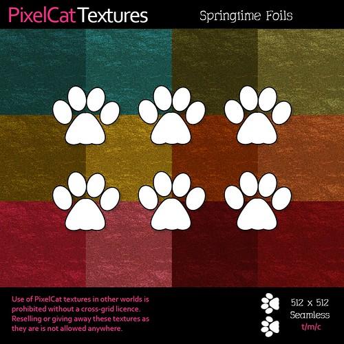 PixelCat Textures - Springtime Foils