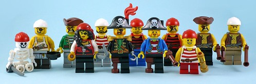 Pirates III All Minifigures From Regular Sets - Pirates
