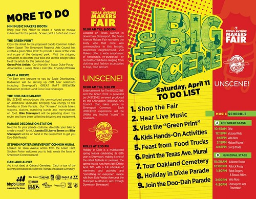 Texas Ave Makers Fair / Big Scene Guide to downtown Shreveport, Sat, Ap 11