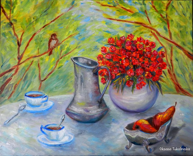 """Картина маслом """"Завтрак на природе"""""""