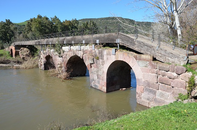 Pont'Ecciu, 1st century AD Roman bridge, restored and enlarged in 1157 during the period of the Giudicati, Allai, Sardinia