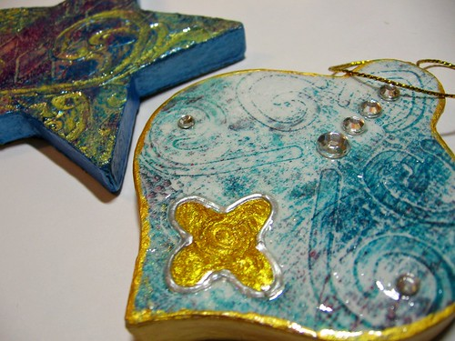 gelli ornaments