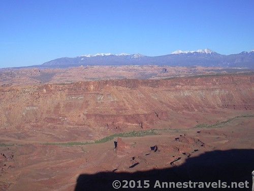 The La Sal Mountains from Anticline Overlook, Canyon Rims Special Management Recreation Area, Utah
