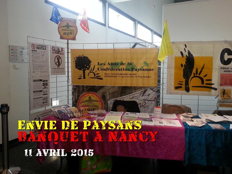 Banquet paysan à Nancy – 11 avril 2015