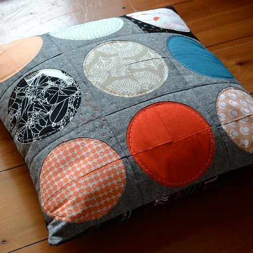 Blood moon pillow