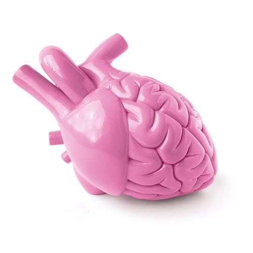 PINK BRAIN HEART