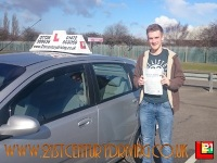Lawrence Gillen passes his driving test in grimsby with 21st Century Driving - Copy (2)