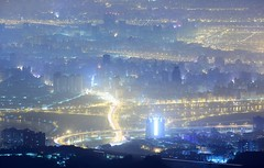 聖域 Lighting City ~ Aerial  Night  View of  Taipei city @ The Tough guy Ridge  觀音山硬漢嶺~