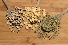 Food composition: beans, lentils and chickpeas