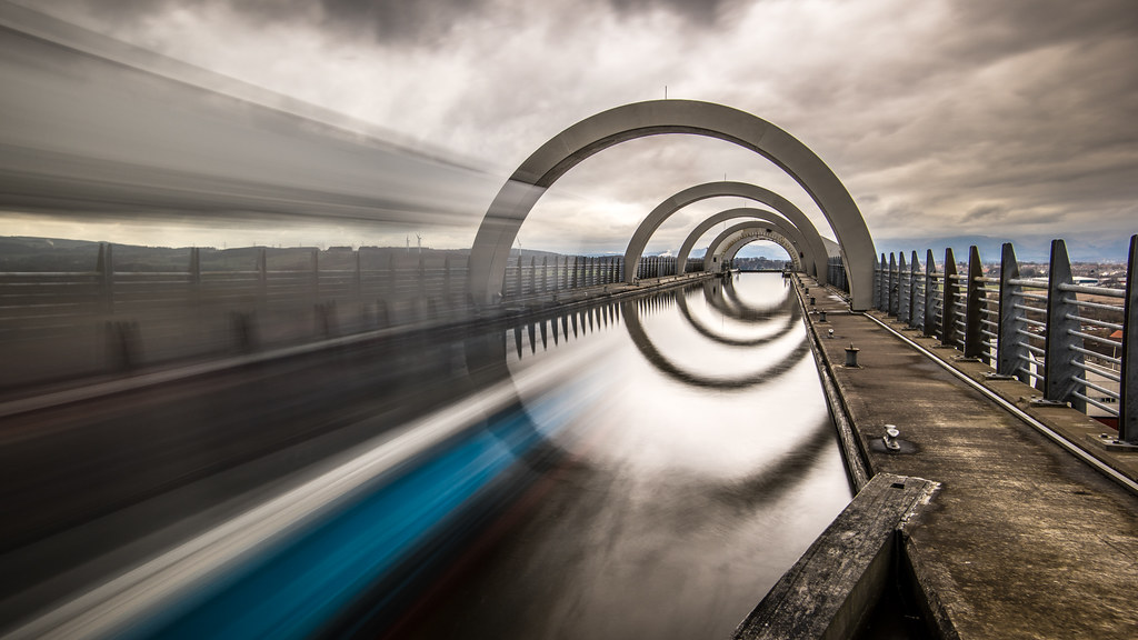 The Falkirk wheel, Falkirk, Scotland, United Kingdom