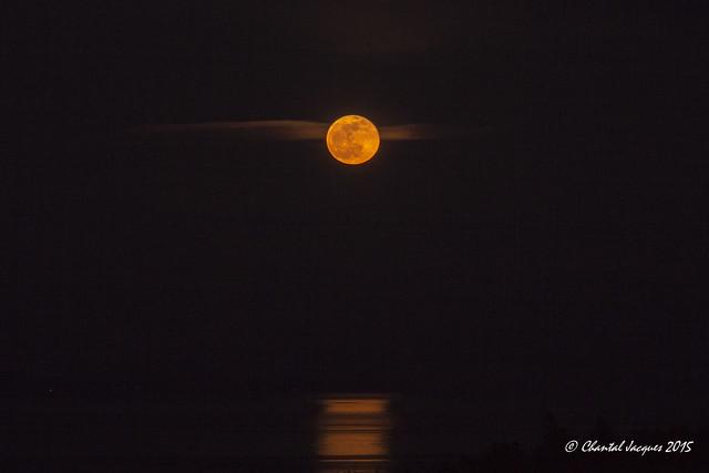 Rising moon over Cordova Bay, Victoria, BC