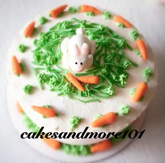 Easter Bunny Cake..It's almost time for Easter and you know what that means? It is time to make a Easter Bunny Cake!  No bunny will be able to resist a slice of this adorable cake. A yellow cake layered with chocolate pudding,custard.##baking #cakes