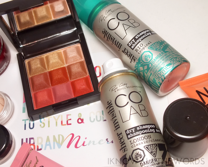 mark touch and glowcoral glow shimmer cream cubes and co LAB dry shampoo