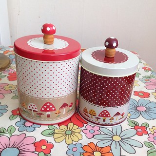 #decole #ottogico #canister #tin #mushroom finally got my hands on these after 3 yrs thanks to  Velda on Flickr