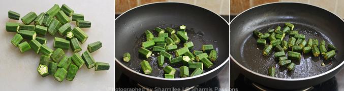 How to make aloo bhindi - Step2