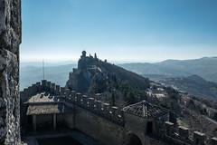 Blick von Rocca Guaita nach Rocca Cesta