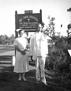 Mark and Betty Kniss, Nav Jivan Hospital, Satbarwa, Bihar, India, 1960