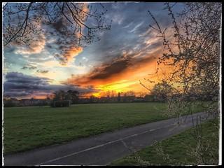 Sunset over Littleover.