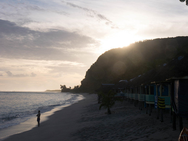 Taufua Beach Fales: Sunset