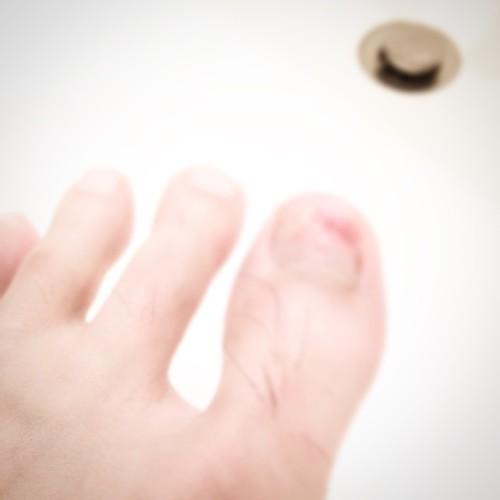 親指、ぼかしつき。