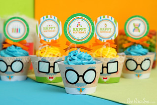 21a - Mad Scientist - Party Circle & Cupcake Wraps - B43