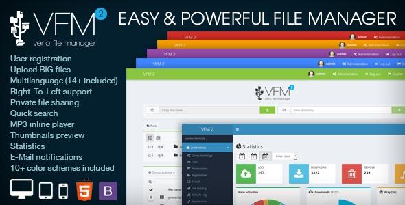 Veno File Manager v2.6.3 - host and share files