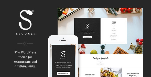 Spooner v1.3 – Restaurant Bar WordPress Theme