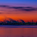 Water and industry after sunset (Explored) by Juergen Huettel Photography