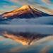 Winter morning Fuji by shinichiro*