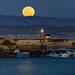 Moonrise over Santa Cruz by rootswalker